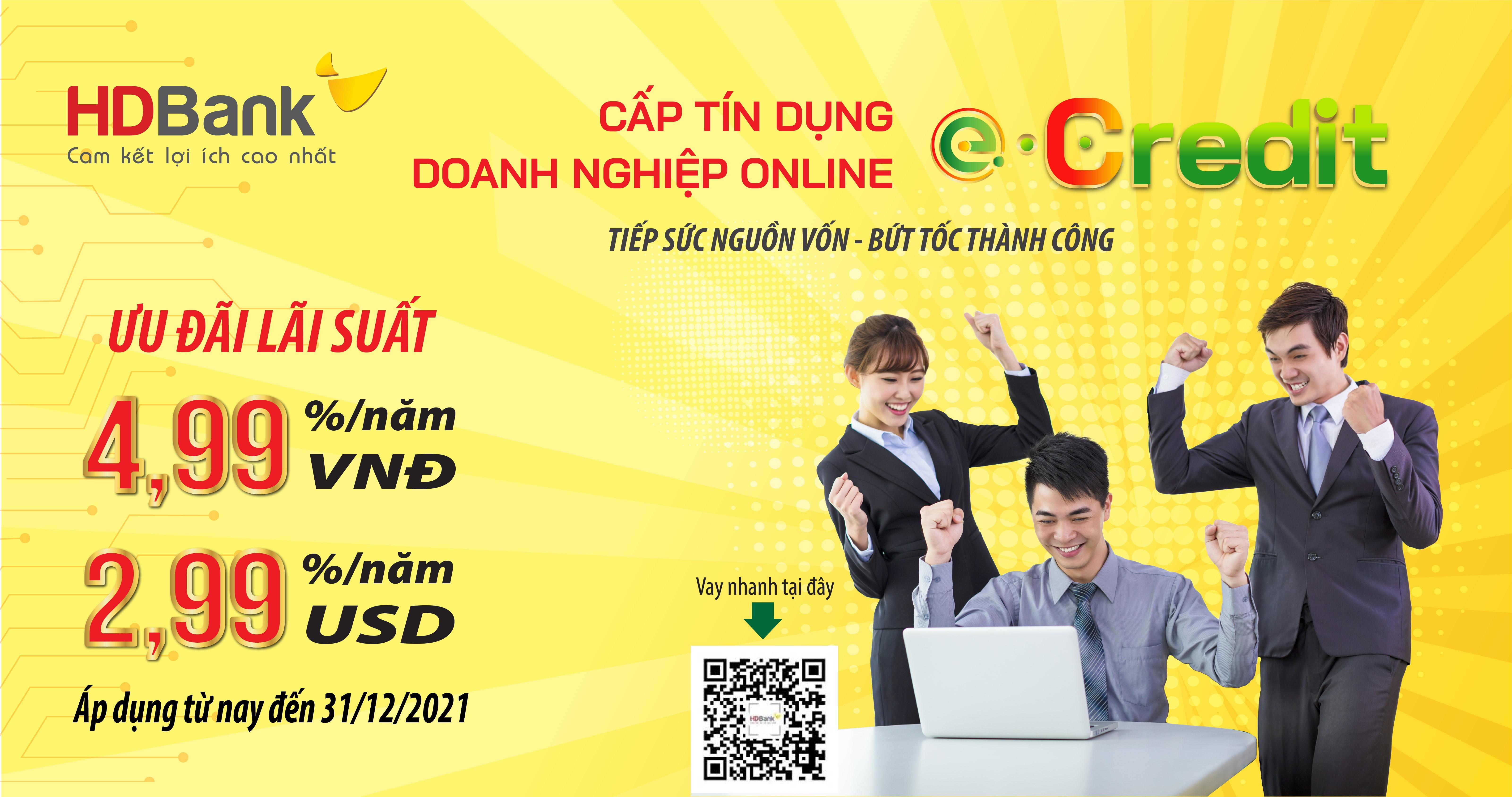 Cấp tín dụng Doanh nghiệp online 24H
